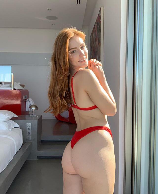 Beautiful In A Red Bikini