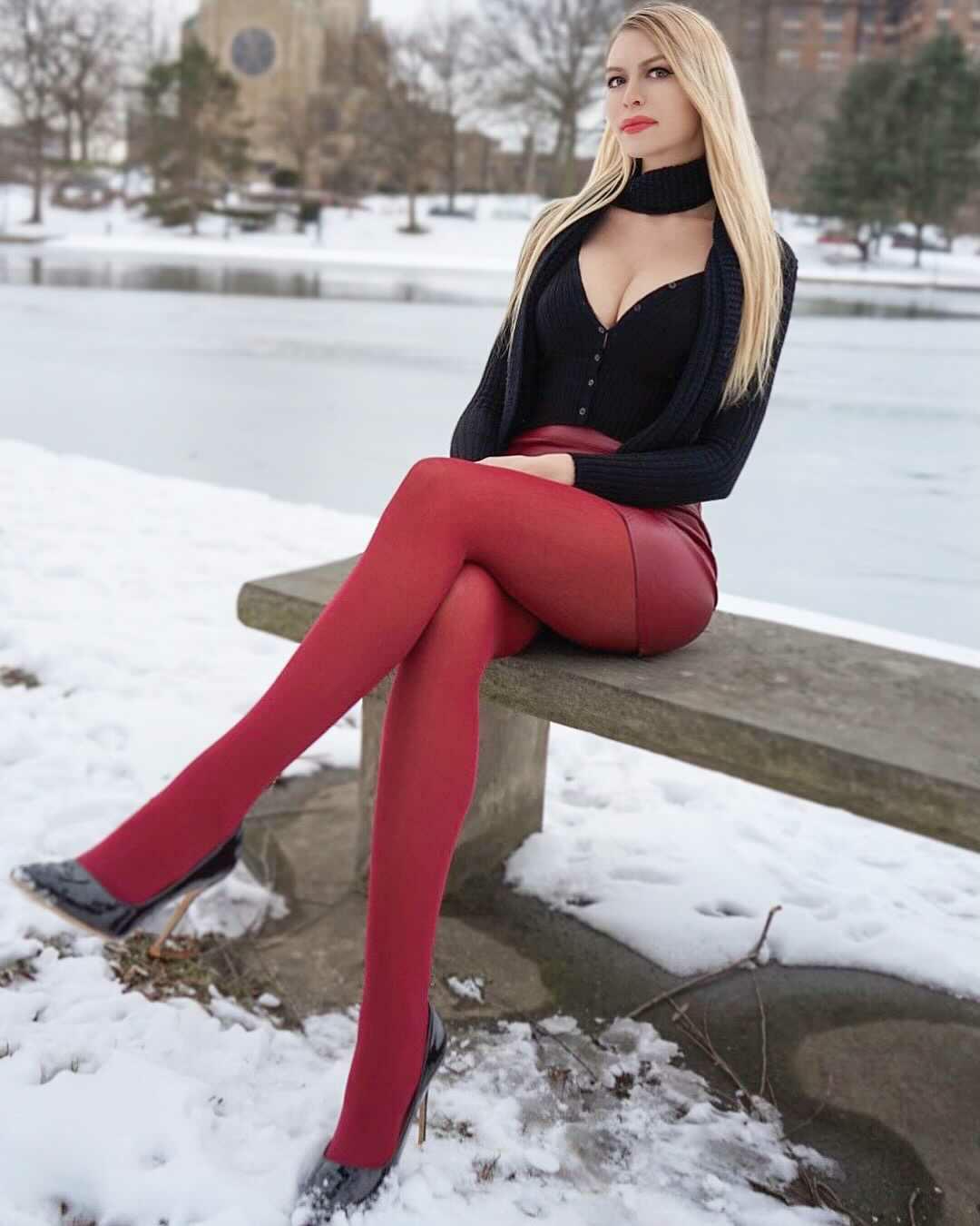 Do You Like The Red Pantyhose?