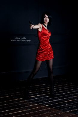 Ada Wong Make Shot Right Into Your Heart :D By Kanra_cosplay