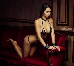 Helga Lovekaty Is Beautiful In Black
