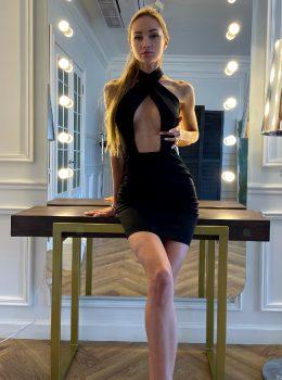 Russian Blonde In Sexy Dress