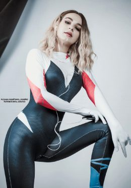 Spider Gwen By Kanra_cosplay