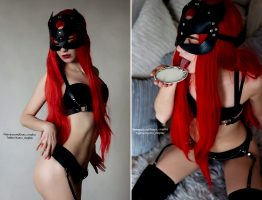 Will You Feed This Kitty With Milk? By Kanra_cosplay